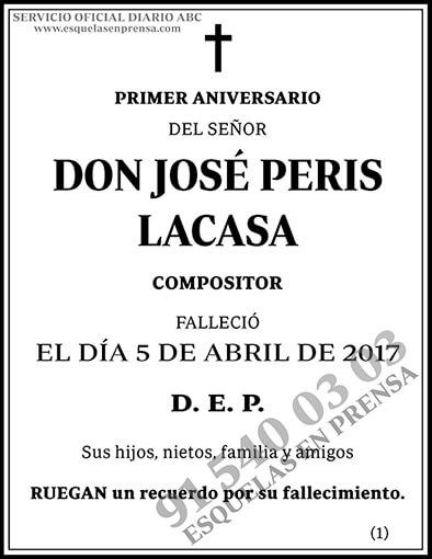 José Peris Lacasa